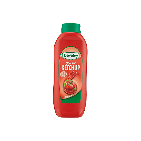 TOMATO KETCHUP 875ml. SQUEEZE DEVELEY  #