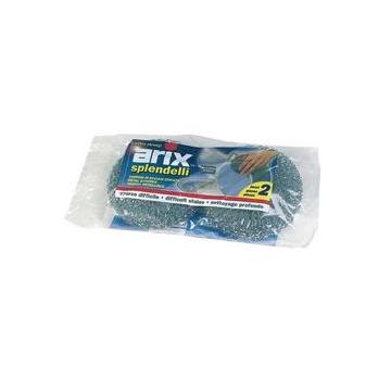 SPUGNA ACCIAIO INOX 2pz. ARIX  # (20)