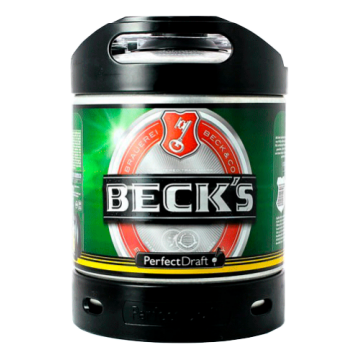 BECK'S LAGER PERFECT DRAFT  6LT =