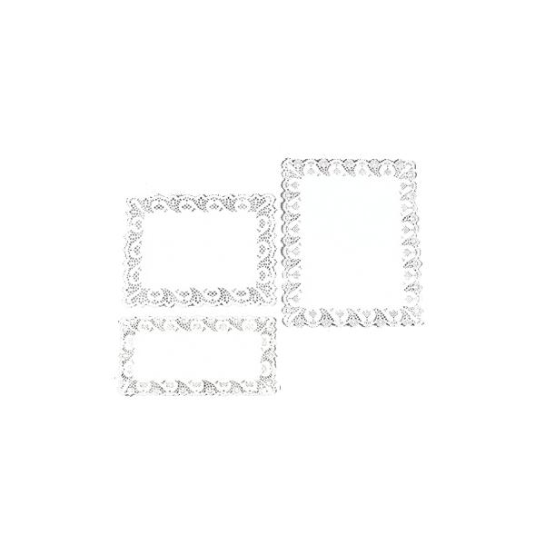 PIZZI RETT. 15x30cm. 100pz. BIANCHI  #