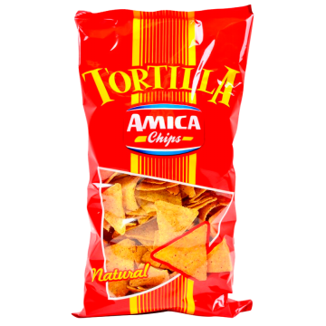 TORTILLA CHIPS NATURAL 450gr. AMICA C. #