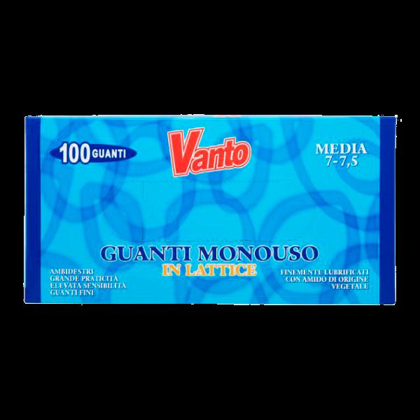 GUANTI LATTICE MEDI 100pz. VANTO # (10)