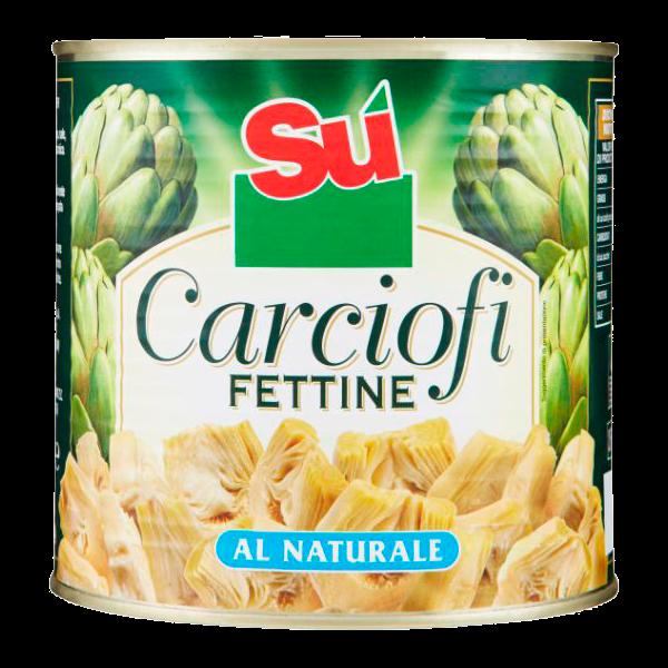 F CARCIOFI FETTINE NATURALI 3/1 LATTA #
