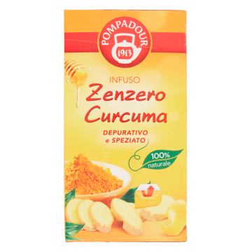 INFUSO ZENZERO/CURCUMA 20f POMPADOUR