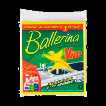 PANNO GIALLO 3pz. BALLERINA VIM # (15)